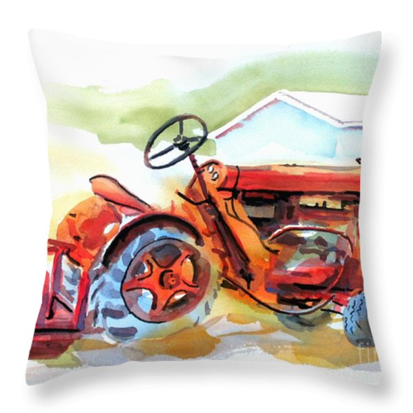 Ready For Work Throw Pillow by Kip DeVore