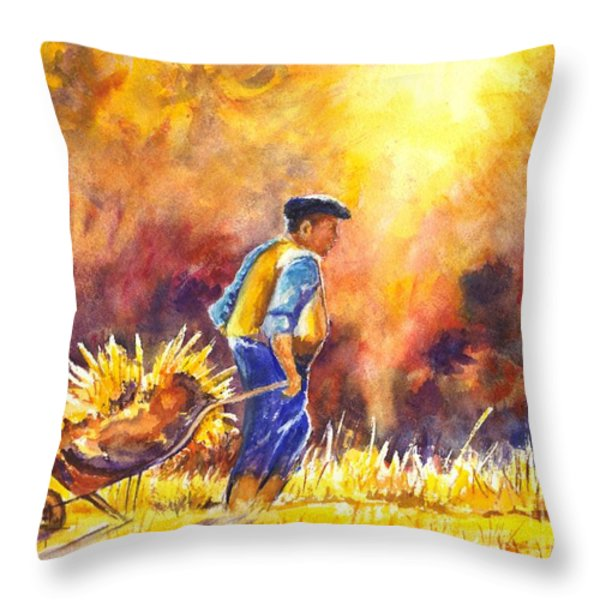 Reaping The Seasons Harvest Throw Pillow by Carol Wisniewski