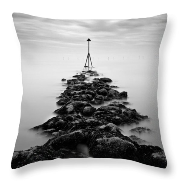 Receding Tide Throw Pillow by Dave Bowman