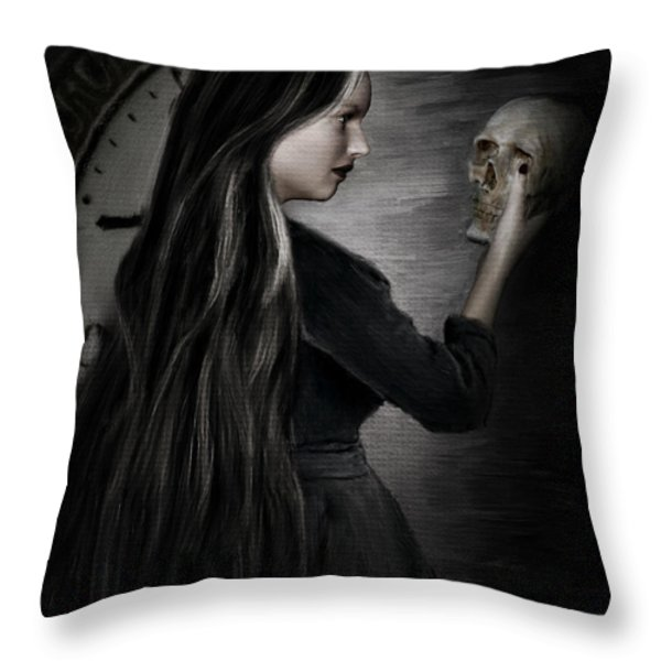 Recognition Of Death Throw Pillow by Lourry Legarde
