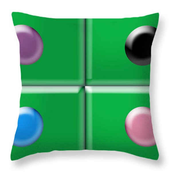 Rectangles and Circles Throw Pillow by Gary Silverstein
