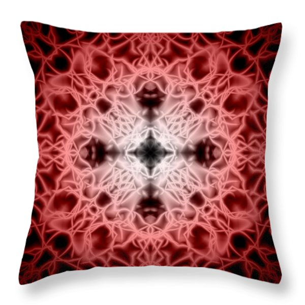 Red Throw Pillow by Adam Romanowicz