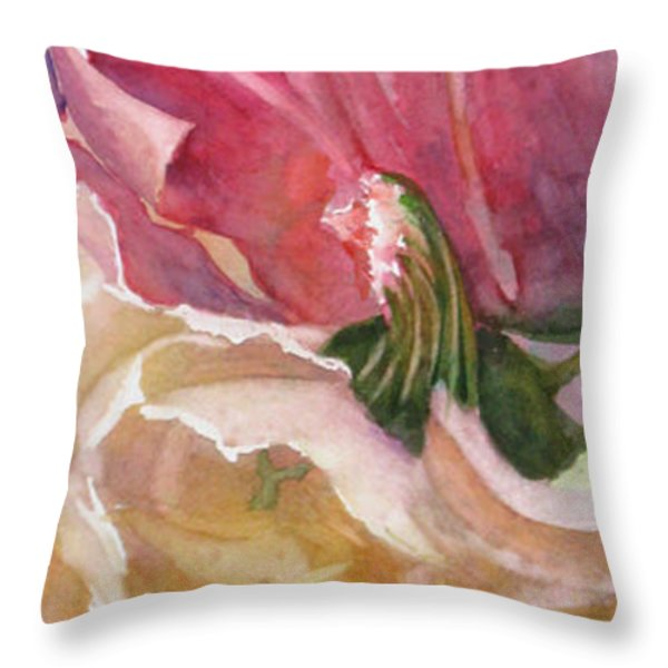 Red-Amber-Green Throw Pillow by Mohamed Hirji