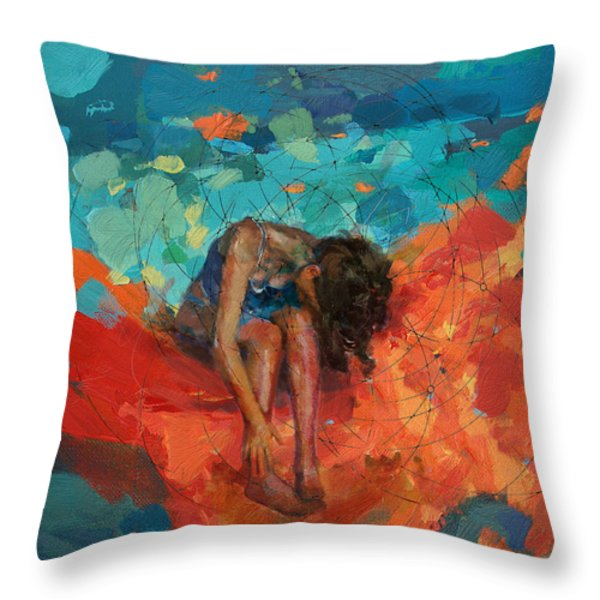 Red Cloud Throw Pillow by Corporate Art Task Force