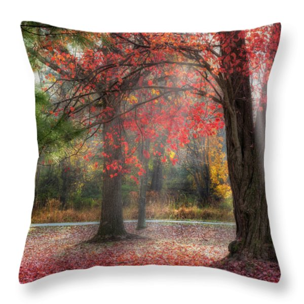 Red Dawn Square Throw Pillow by Bill  Wakeley