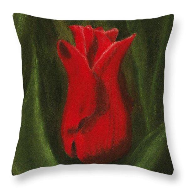 Red Elegance Throw Pillow by Anastasiya Malakhova