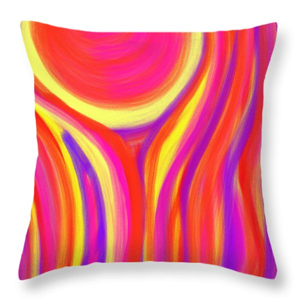 Red Fire Throw Pillow by Daina White