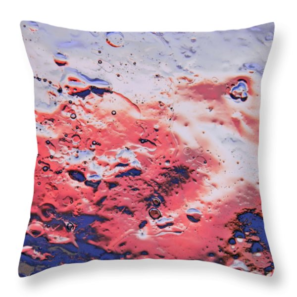 Red Horizon Throw Pillow by Sami Tiainen