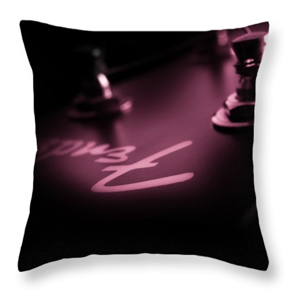 Red Light District  Throw Pillow by Bob Orsillo