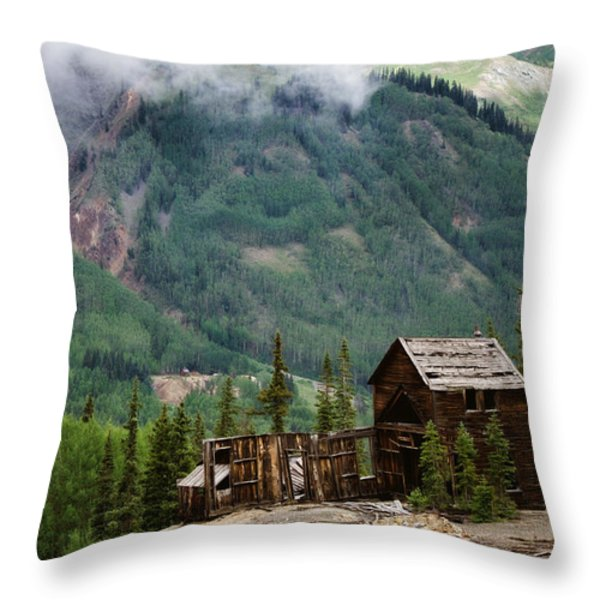 Red Mountain Remnants Throw Pillow by Lana Trussell