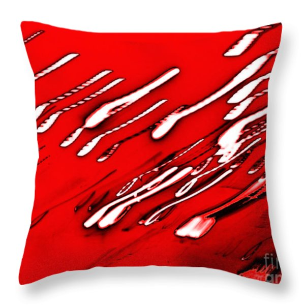 Red Racers Throw Pillow by Methune Hively