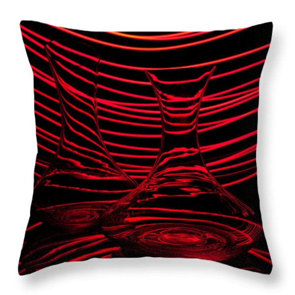 Red rhythm II Throw Pillow by Davorin Mance
