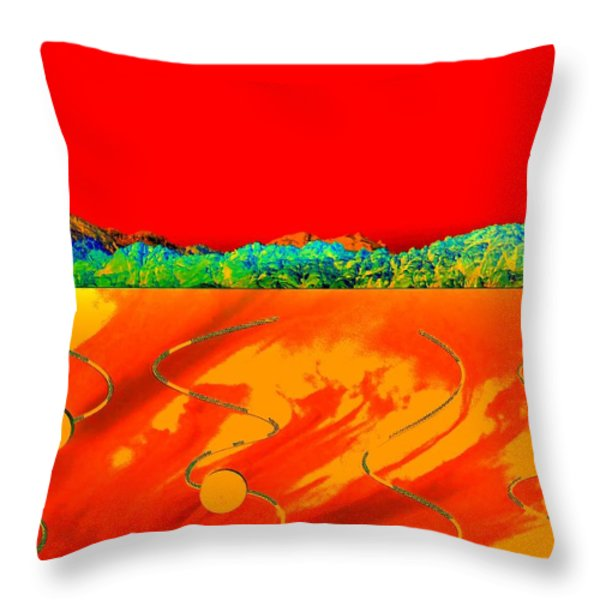 Red Rock Canyon 81 Throw Pillow by Randall Weidner