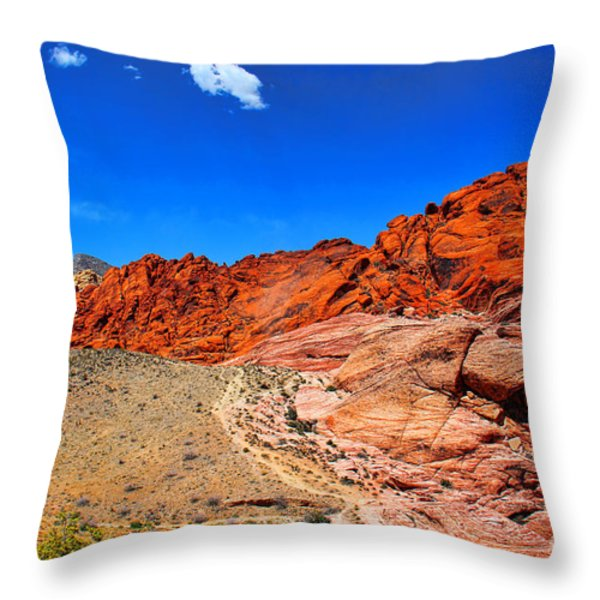 Red Rock Canyon Throw Pillow by Mariola Bitner