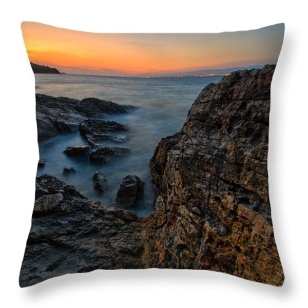 Red rock Throw Pillow by Davorin Mance