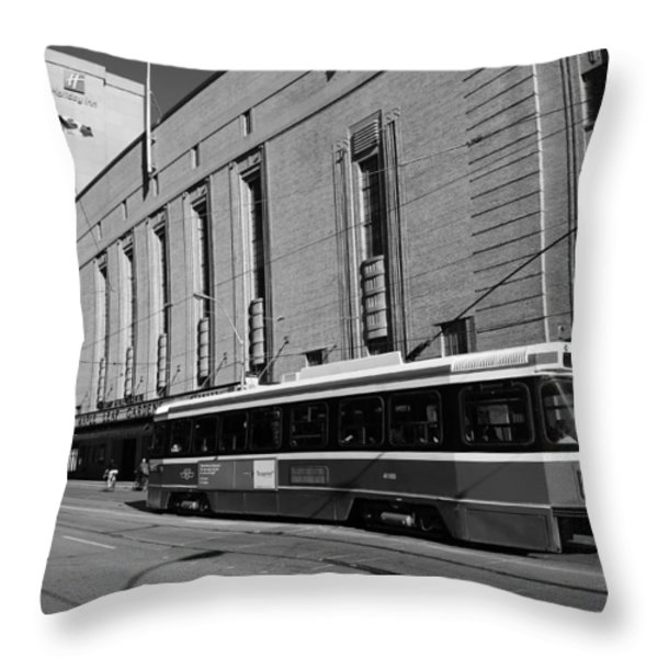 Red Rocket 23b Throw Pillow by Andrew Fare
