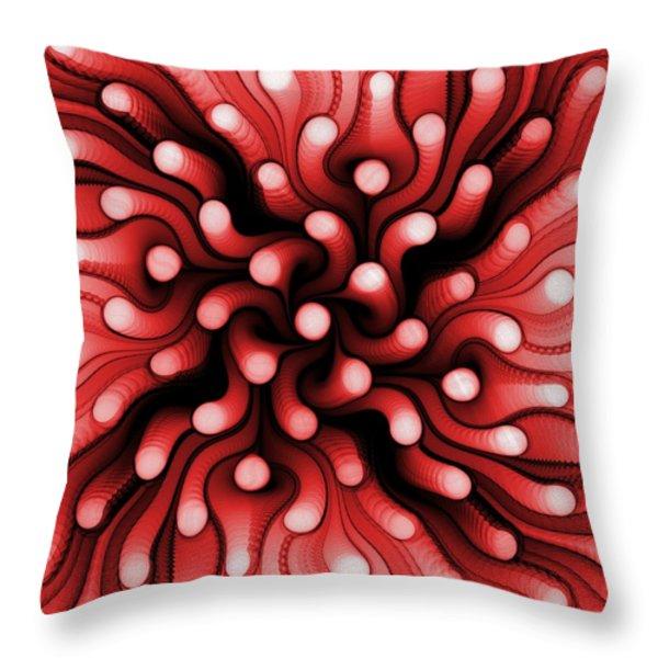 Red Sea Anemone Throw Pillow by Anastasiya Malakhova