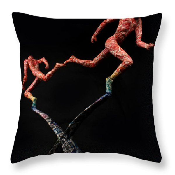 Red Shift a science sculpture by Adam Long Throw Pillow by Adam Long