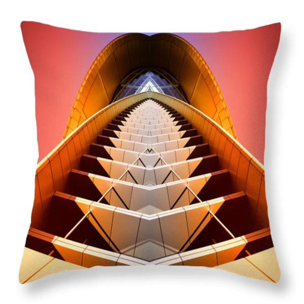 Red Shift Throw Pillow by Wayne Sherriff