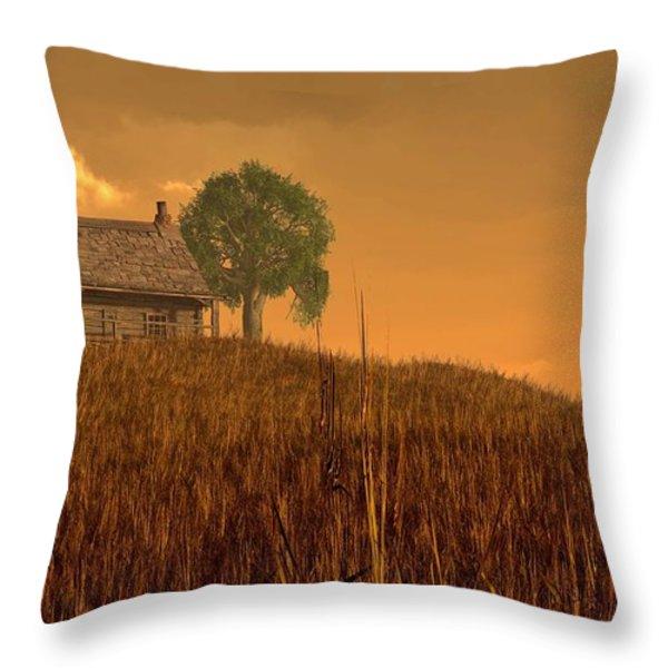 Red Skies at Night Throw Pillow by Daniel Eskridge