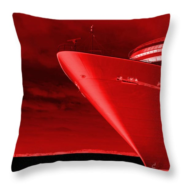 Red Sky At Morning ... Sailors Take Warning Throw Pillow by Luke Moore