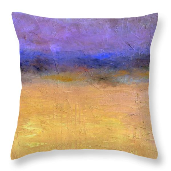 Red Sky Throw Pillow by Michelle Calkins