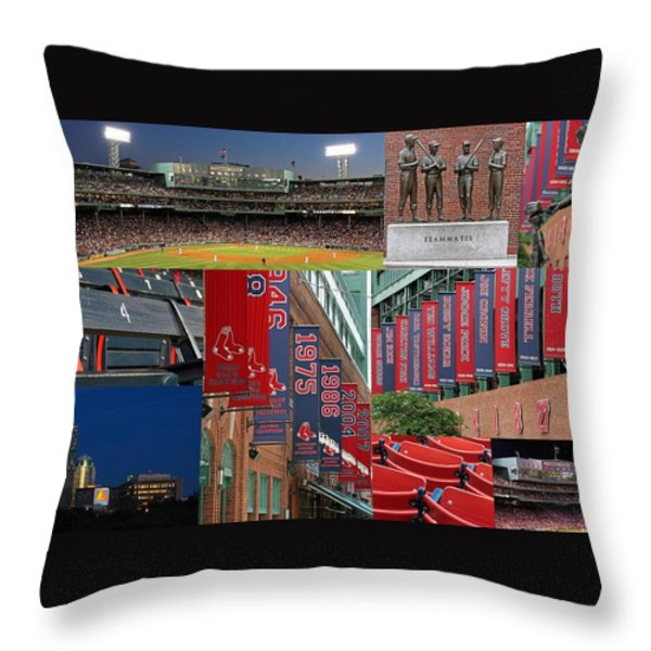 Red Sox Nation Throw Pillow by Juergen Roth