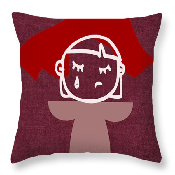 Red Veil Throw Pillow by Tina M Wenger