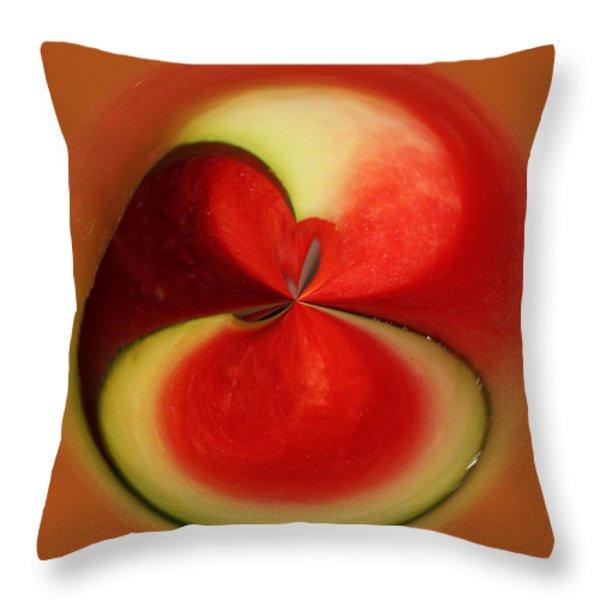Red Watermelon Throw Pillow by Cynthia Guinn