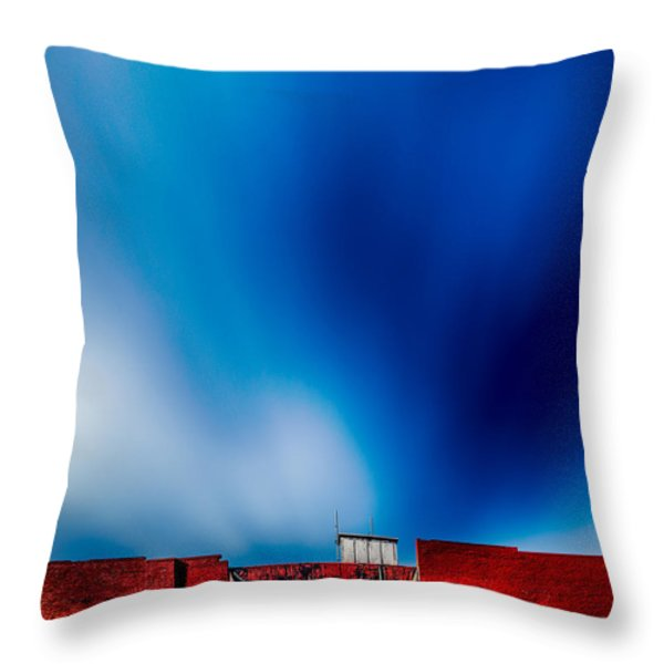 Red White And Blue Throw Pillow by Bob Orsillo