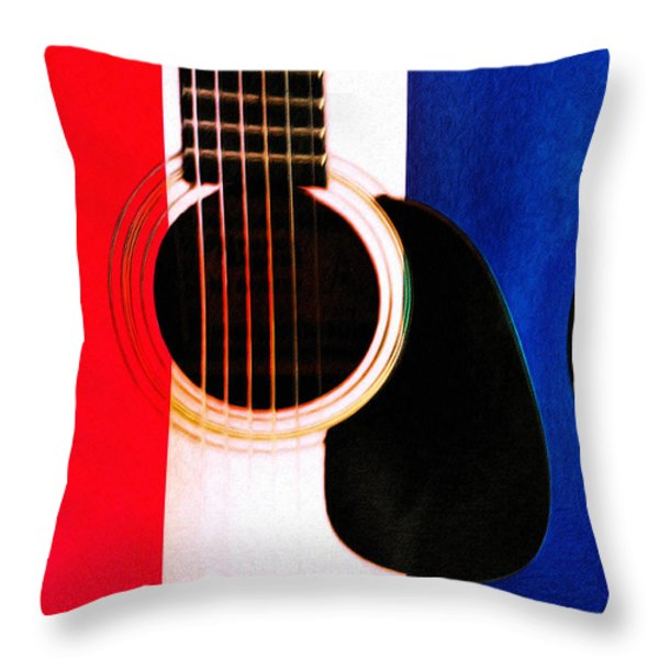 Red White And Blues Throw Pillow by Bill Cannon