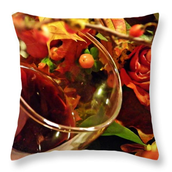 Red Wine 2 Throw Pillow by Sarah Loft