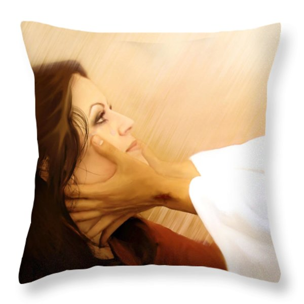Redeemed Throw Pillow by Jennifer Page