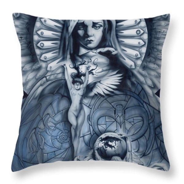 Redemption Throw Pillow by Luis  Navarro