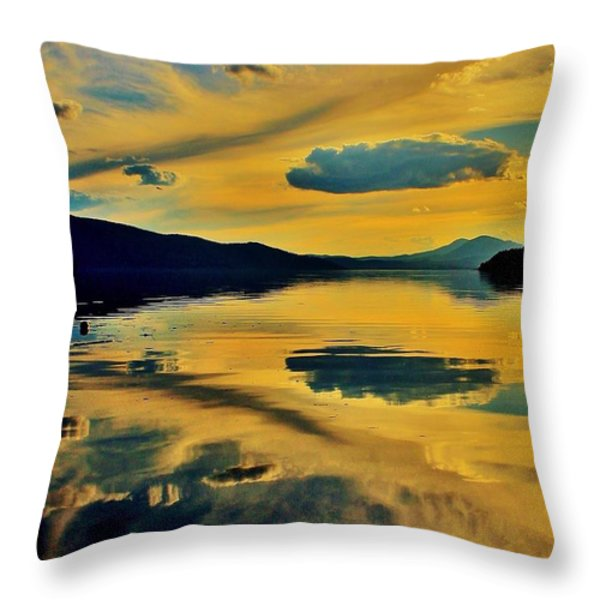 Reflect Throw Pillow by Benjamin Yeager