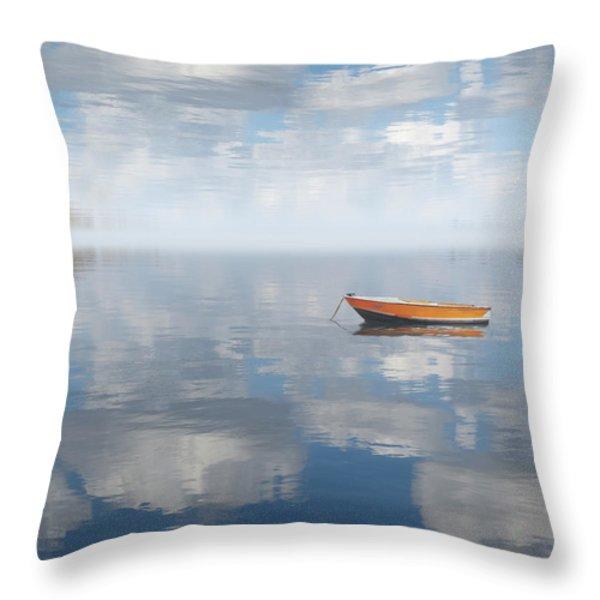 Reflected Shanti Throw Pillow by Deborah Smith