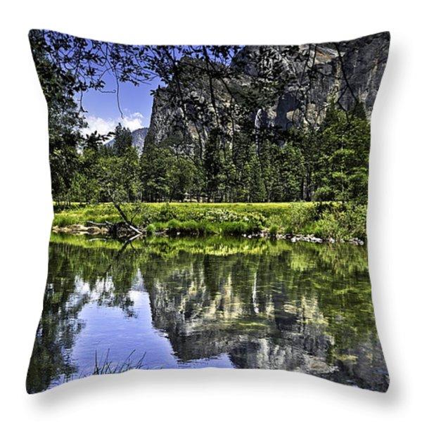 Reflecting On Yosemite Throw Pillow by LeeAnn McLaneGoetz McLaneGoetzStudioLLCcom