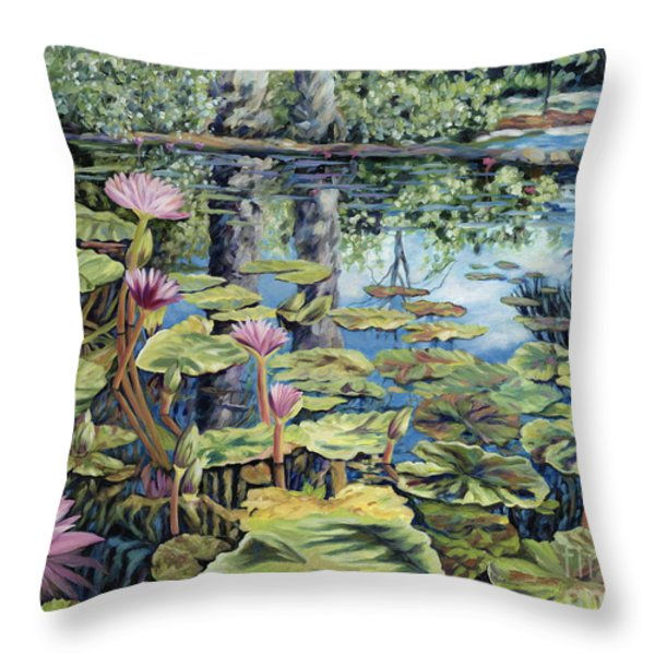 Reflecting Pond Throw Pillow by Danielle  Perry