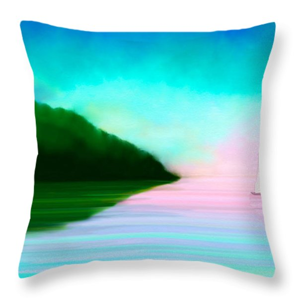 Reflections Throw Pillow by Anita Lewis
