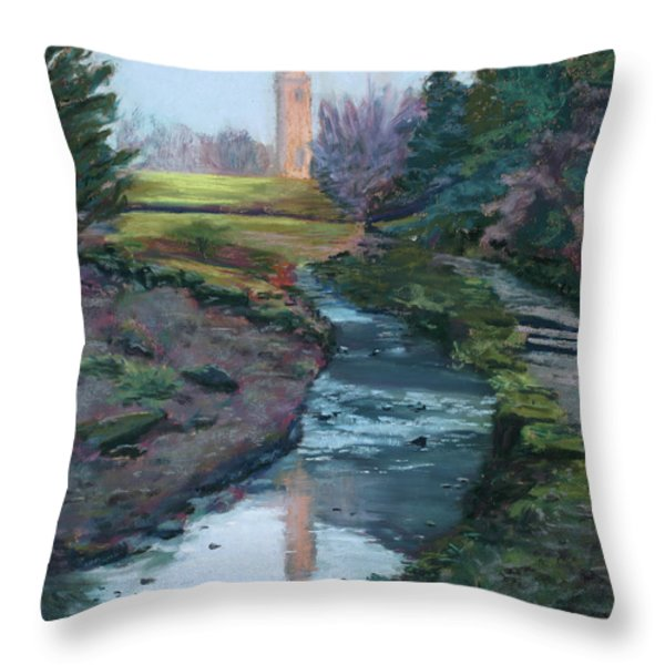 Reflections In History Throw Pillow by Mary Benke
