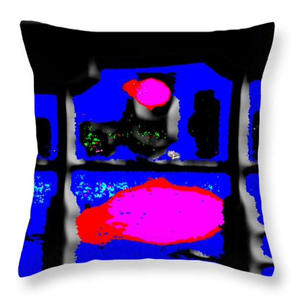 Reflections Throw Pillow by Jimi Bush