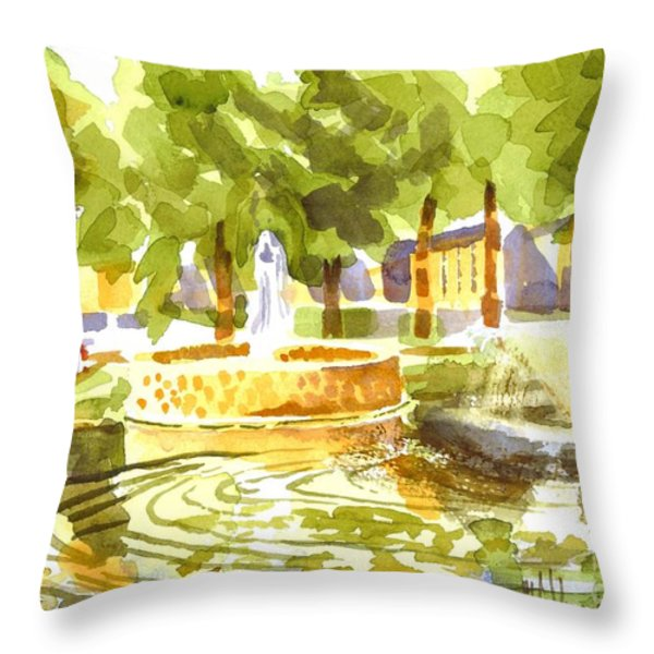 Reflections Throw Pillow by Kip DeVore