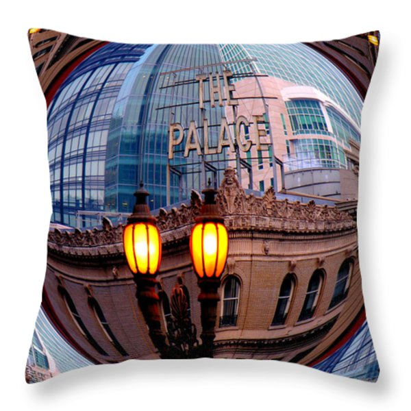 Reflections Throw Pillow by Nick David