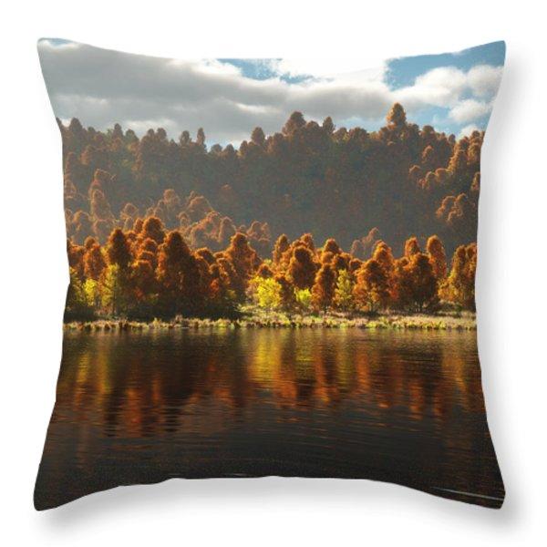 Reflections Of Autumn Throw Pillow by Melissa Krauss