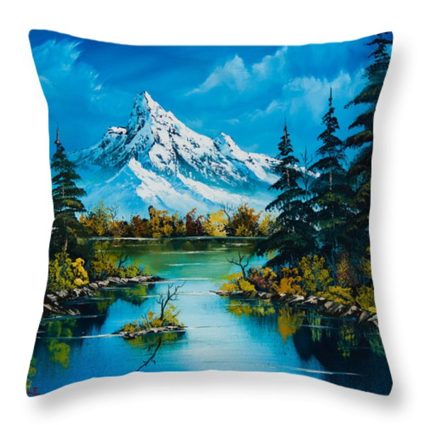 Reflections Of Fall Throw Pillow by C Steele