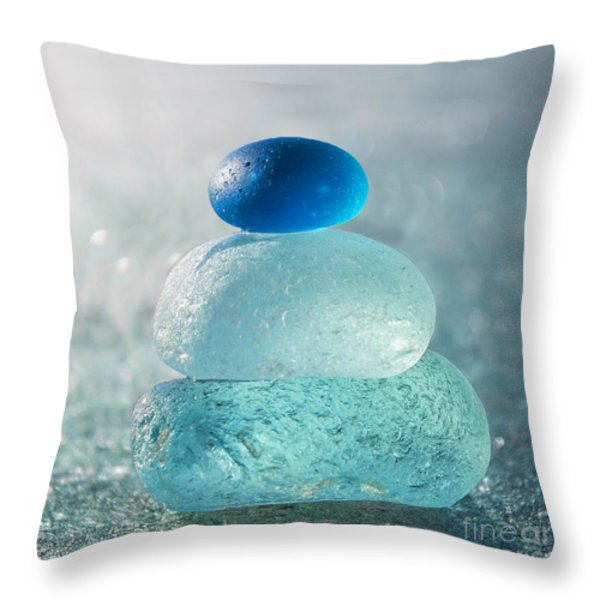 Refreshingly Cool Throw Pillow by Barbara McMahon