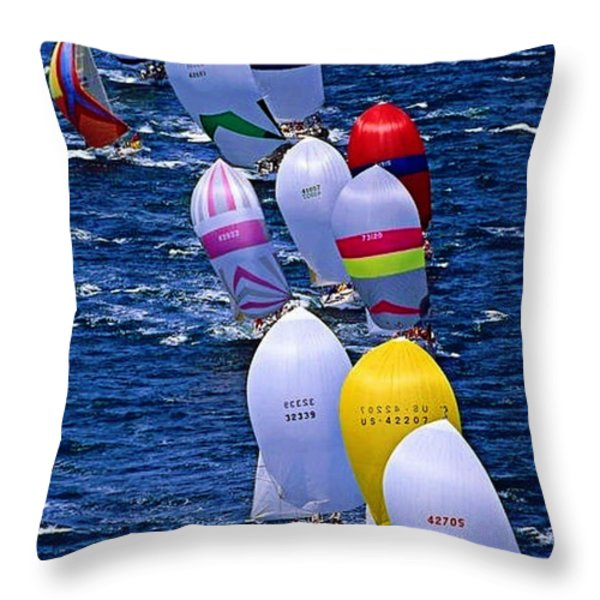 Regatta Throw Pillow by M and L Creations