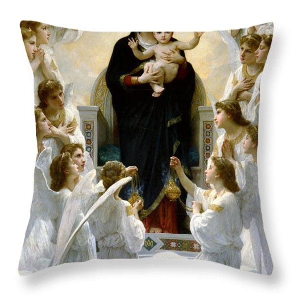 Regina Angelorum Throw Pillow by William Bouguereau
