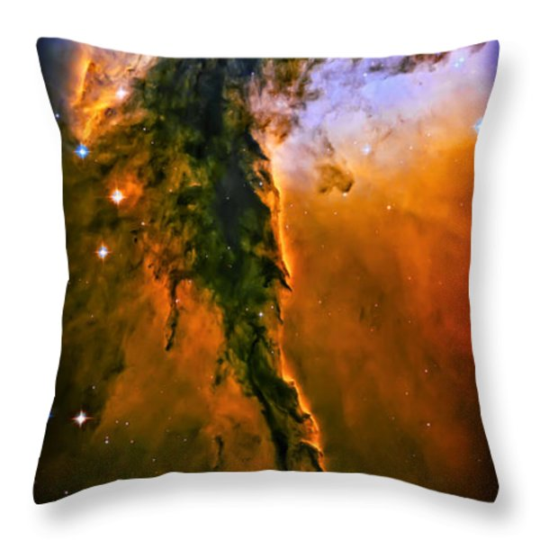 Release - Eagle Nebula 3 Throw Pillow by The  Vault - Jennifer Rondinelli Reilly