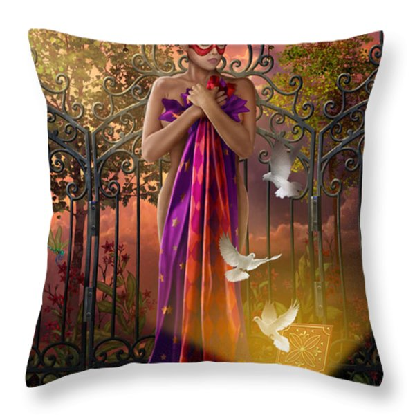 Release Variant I Throw Pillow by Ciro Marchetti